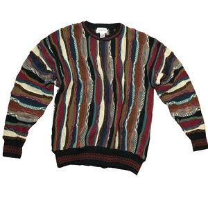 Alfani Muliticolor vintage Knit crew sweater L